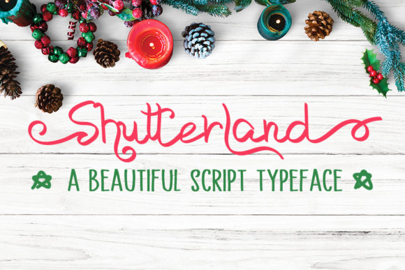 Print on Demand: Shutterland Script & Handwritten Font By MJB Letters