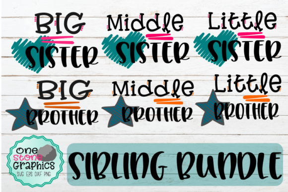 Siblings Bundle Gráfico Crafts Por OneStoneGraphics