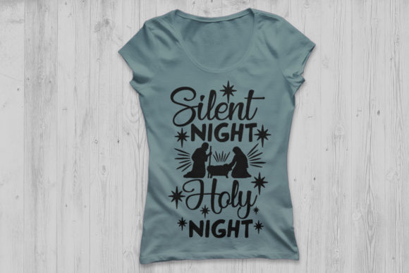 Download Free Silent Night Holy Night Svg Graphic By Cosmosfineart Creative for Cricut Explore, Silhouette and other cutting machines.