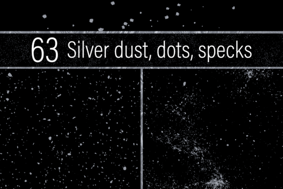 Print on Demand: Silver Dust, Dots and Specks Graphic Textures By JulieCampbellDesigns - Image 1