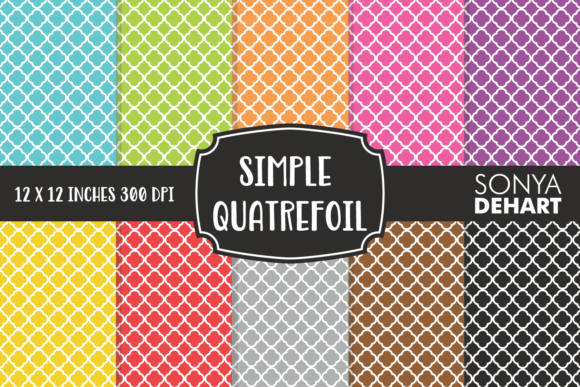 Download Free Simple Quatrefoil Patterns Graphic By Sonyadehart Creative Fabrica for Cricut Explore, Silhouette and other cutting machines.