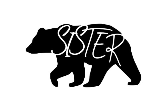 Download Free Sister Bear Graphic By Studio 26 Design Co Creative Fabrica for Cricut Explore, Silhouette and other cutting machines.