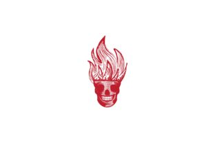 Download Free Skull And Fire Ghost Logo Graphic By Yahyaanasatokillah for Cricut Explore, Silhouette and other cutting machines.