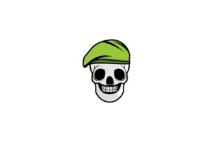 Download Free Skull And Military Cap Logo Graphic By Yahyaanasatokillah for Cricut Explore, Silhouette and other cutting machines.