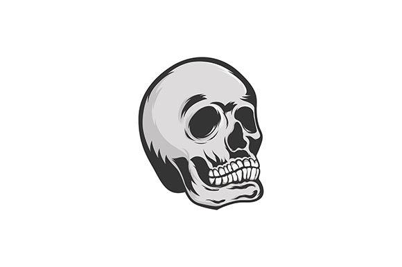 Skull Monocrome Vector Graphic Illustrations By rohmar