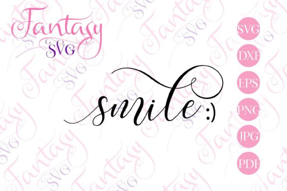 Print on Demand: Smile Svg Graphic Crafts By Fantasy SVG - Image 2