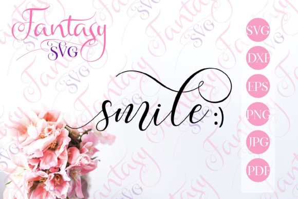 Print on Demand: Smile Svg Graphic Crafts By Fantasy SVG - Image 1
