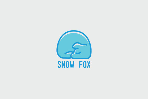 Download Free Snow Fox Logo Template Graphic By Kreasimalam Creative Fabrica for Cricut Explore, Silhouette and other cutting machines.