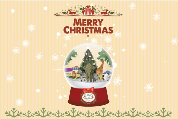 Snow Globe Christmas Animal Graphic By DK Project