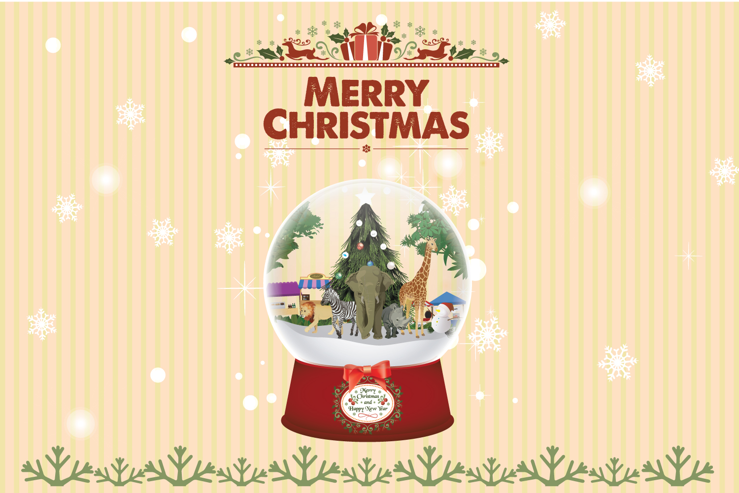 Download Free Snow Globe Christmas Animal Graphic By Dk Project Creative Fabrica for Cricut Explore, Silhouette and other cutting machines.