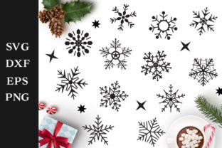 Download Free Snowflakes Pack Graphic By Nerd Mama Cut Files Creative Fabrica for Cricut Explore, Silhouette and other cutting machines.
