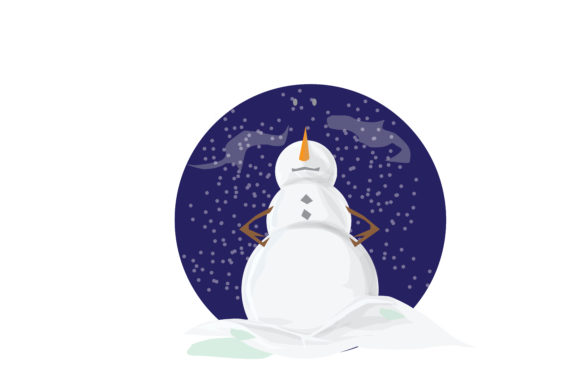 Snowman Illustration Graphic Illustrations By RFG