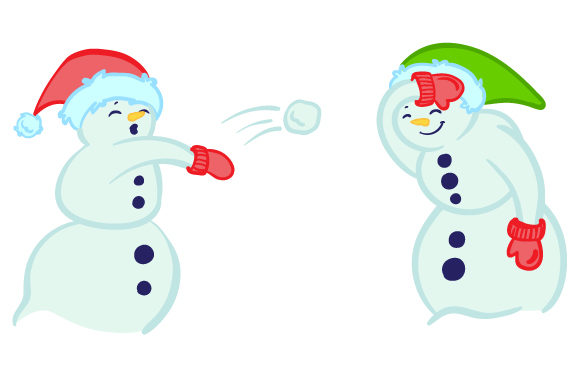 Download Free Snowmen Having A Snowball Fight Svg Cut File By Creative Fabrica for Cricut Explore, Silhouette and other cutting machines.
