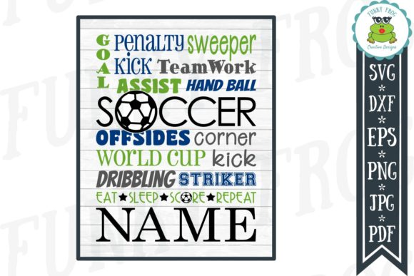 Soccer Subway Art Graphic Crafts By funkyfrogcreativedesigns