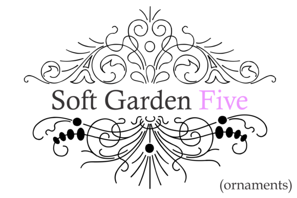 Print on Demand: Soft Garden Five Dingbats Fuente Por Intellecta Design