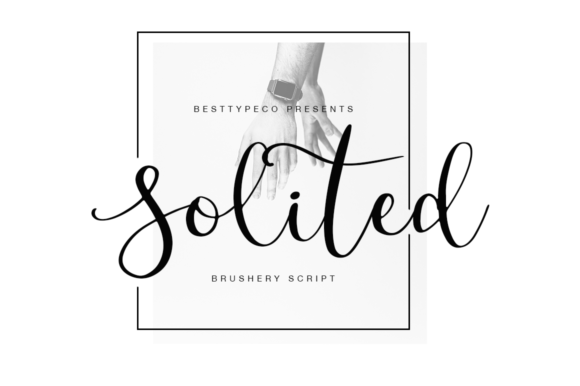 Print on Demand: Solited Script & Handwritten Font By besttypeco - Image 1