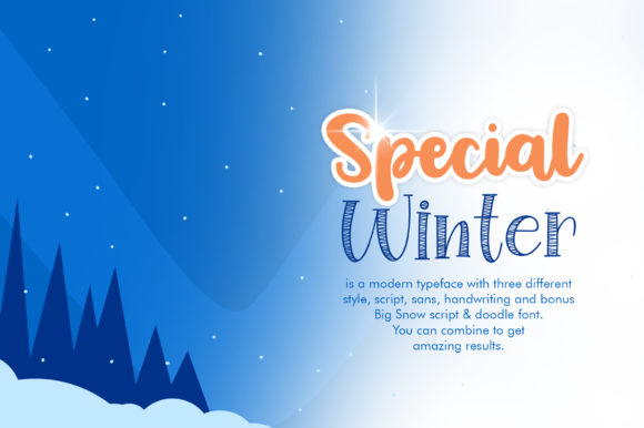 Download Free Special Winter Family Font By Khurasan Creative Fabrica for Cricut Explore, Silhouette and other cutting machines.