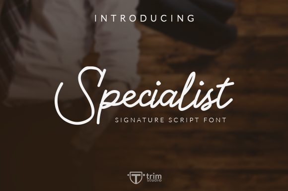 Print on Demand: Specialist Script & Handwritten Font By Trim Studio