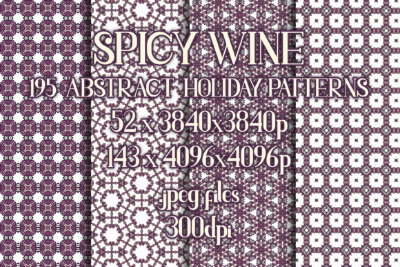 Spicy Wine - Subtle Holiday Patterns Graphic Patterns By vessto
