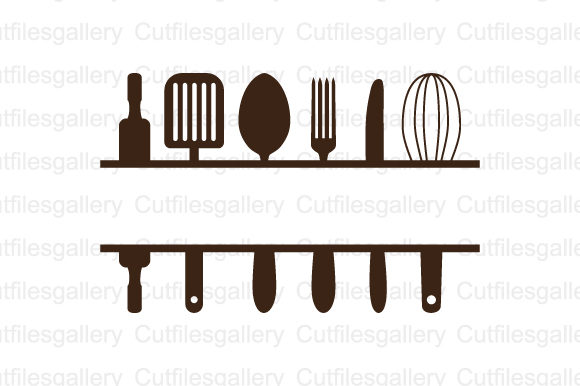 Download Free Split Kitchen Monogram Svg Graphic By Cutfilesgallery Creative for Cricut Explore, Silhouette and other cutting machines.