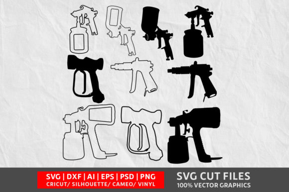 Download Free Spray Gun Graphic By Design Palace Creative Fabrica for Cricut Explore, Silhouette and other cutting machines.