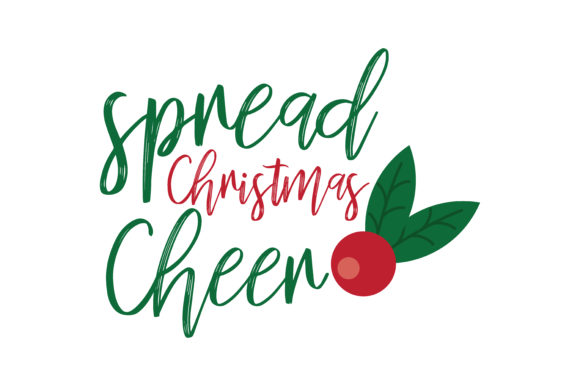 Download Free Spread Christmas Cheer Svg Cut Graphic By Thelucky Creative for Cricut Explore, Silhouette and other cutting machines.