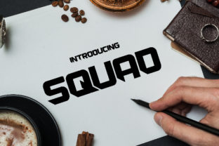 Print on Demand: Squad Blackletter Font By da_only_aan 1
