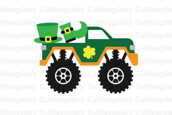St Patricks Truck SVG Graphic Crafts By cutfilesgallery