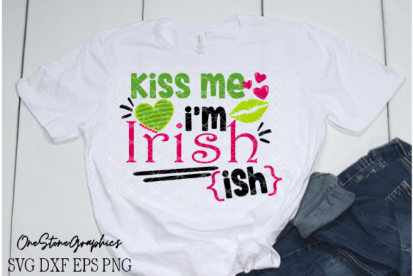 St Paddy's Day Svg, Kiss Me I'm Irish Svg Graphic Crafts By OneStoneGraphics - Image 1