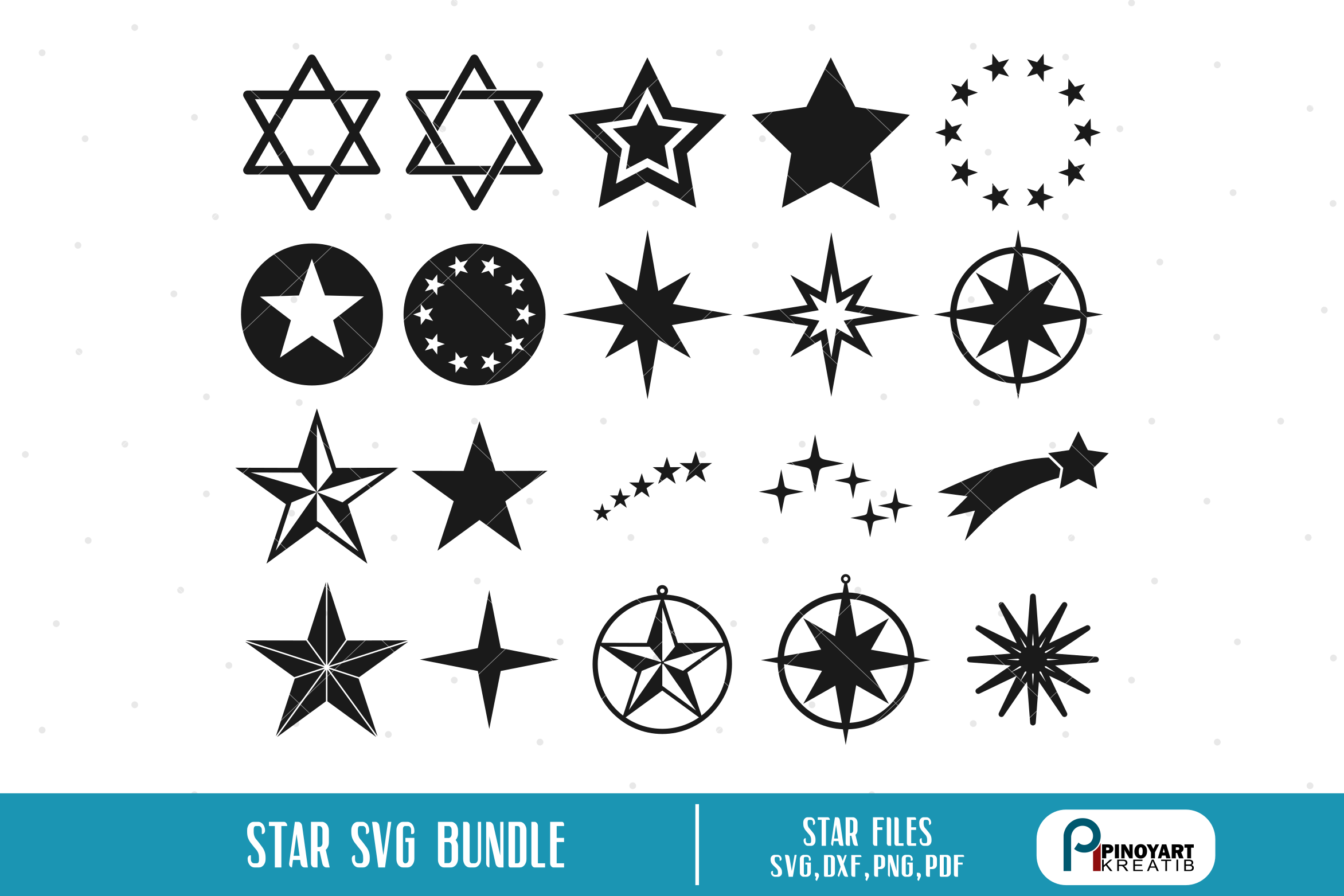Download Free Star Bundle Graphic By Pinoyartkreatib Creative Fabrica for Cricut Explore, Silhouette and other cutting machines.