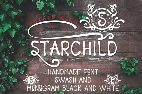 Print on Demand: Starchild Script & Handwritten Font By jehansyah251