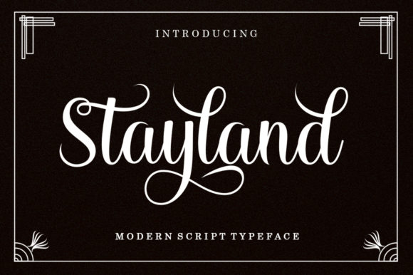 Print on Demand: Stayland Manuscrita Fuente Por letterfreshstudio