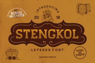 Print on Demand: Stengkol Slab Serif Font By Viaction Type.Co
