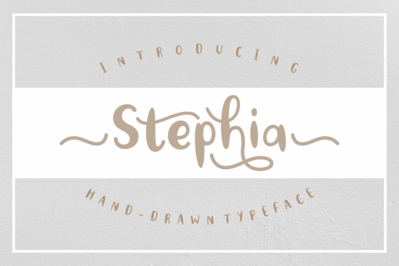 Print on Demand: Stephia Script & Handwritten Font By Rifki (7ntypes) - Image 1
