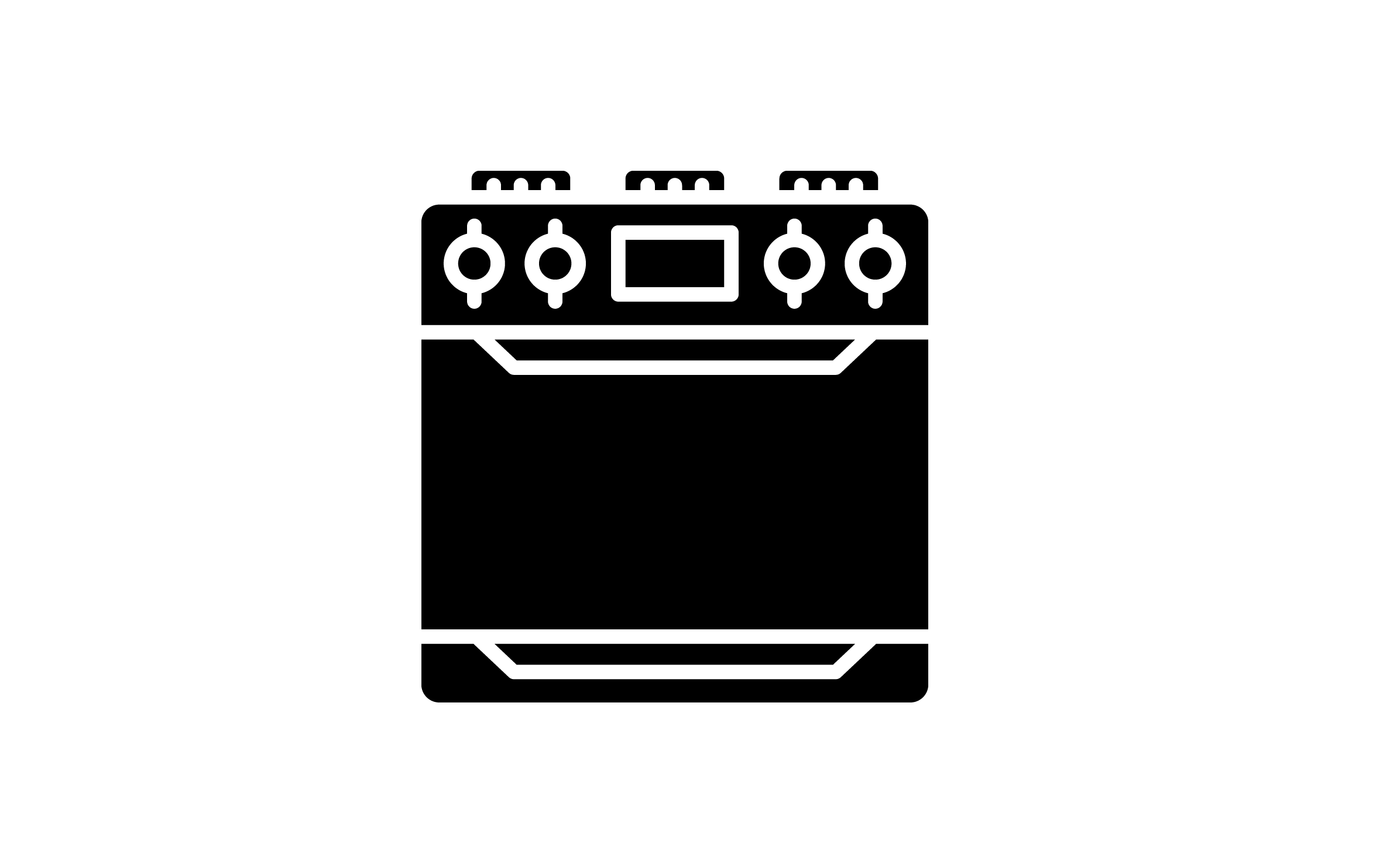 Download Free Stove Icon Graphic By Back1design1 Creative Fabrica for Cricut Explore, Silhouette and other cutting machines.