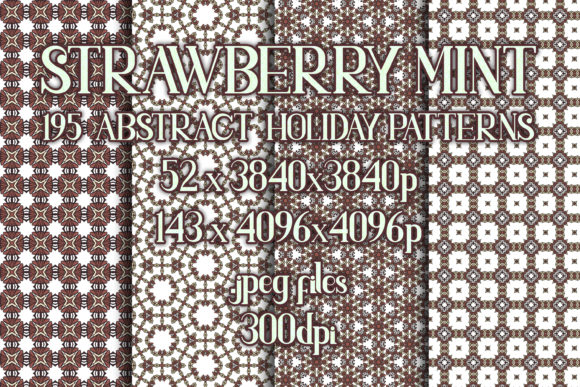 Strawberry Mint - Subtle Holiday Patterns Graphic Patterns By vessto