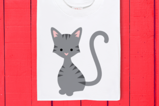 Download Free Striped Cat Graphic By Designedbygeeks Creative Fabrica for Cricut Explore, Silhouette and other cutting machines.