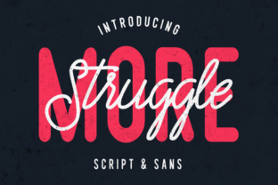 Struggle More Duo Font By LovePowerDesigns