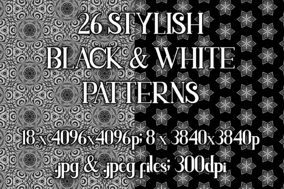 Stylish Black & White Patterns Graphic Patterns By vessto