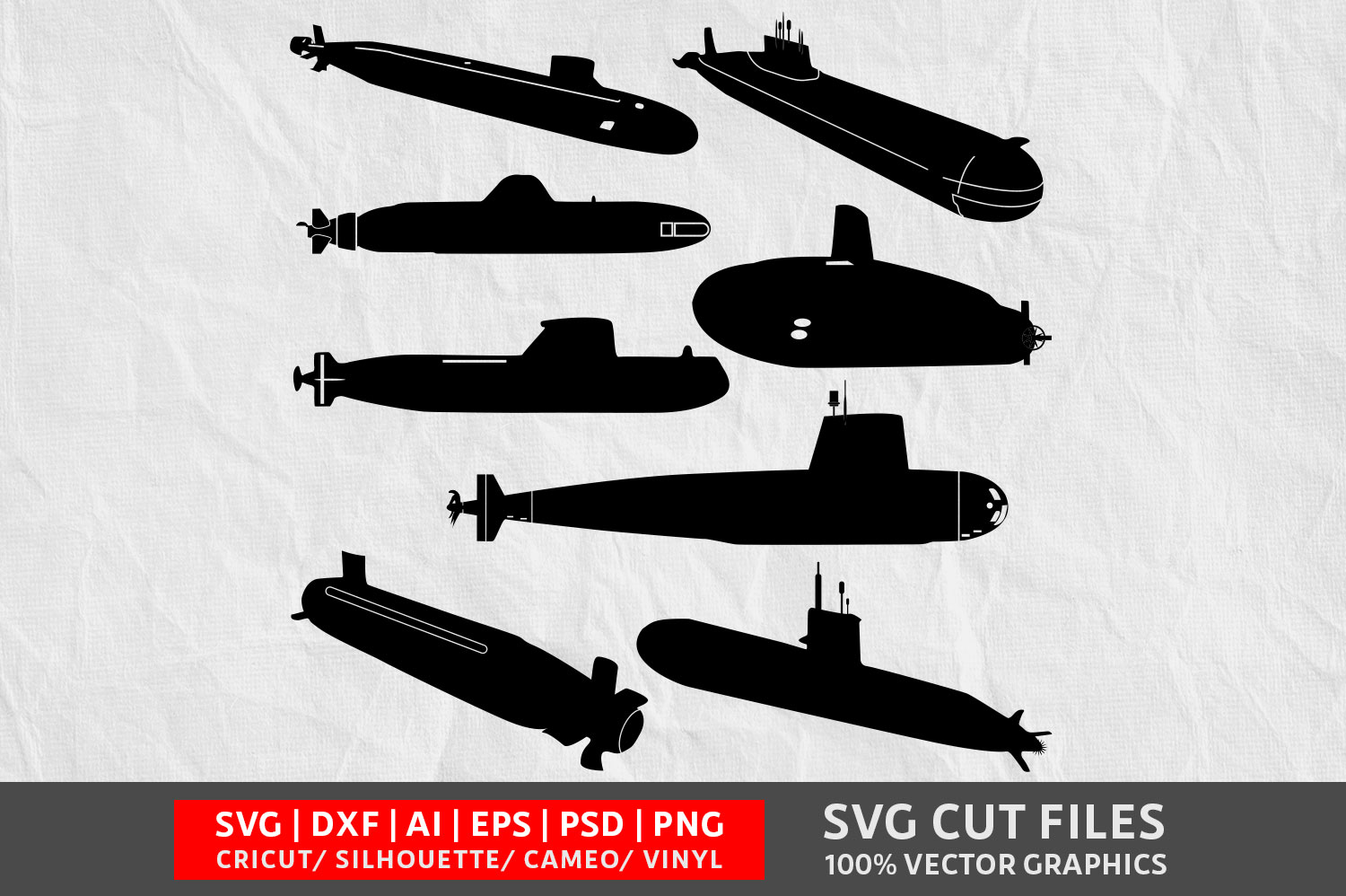 Download Free Submarine Graphic By Design Palace Creative Fabrica for Cricut Explore, Silhouette and other cutting machines.