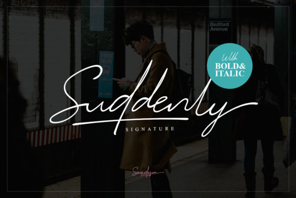 Print on Demand: Suddenly Family Script & Handwritten Font By saridezra