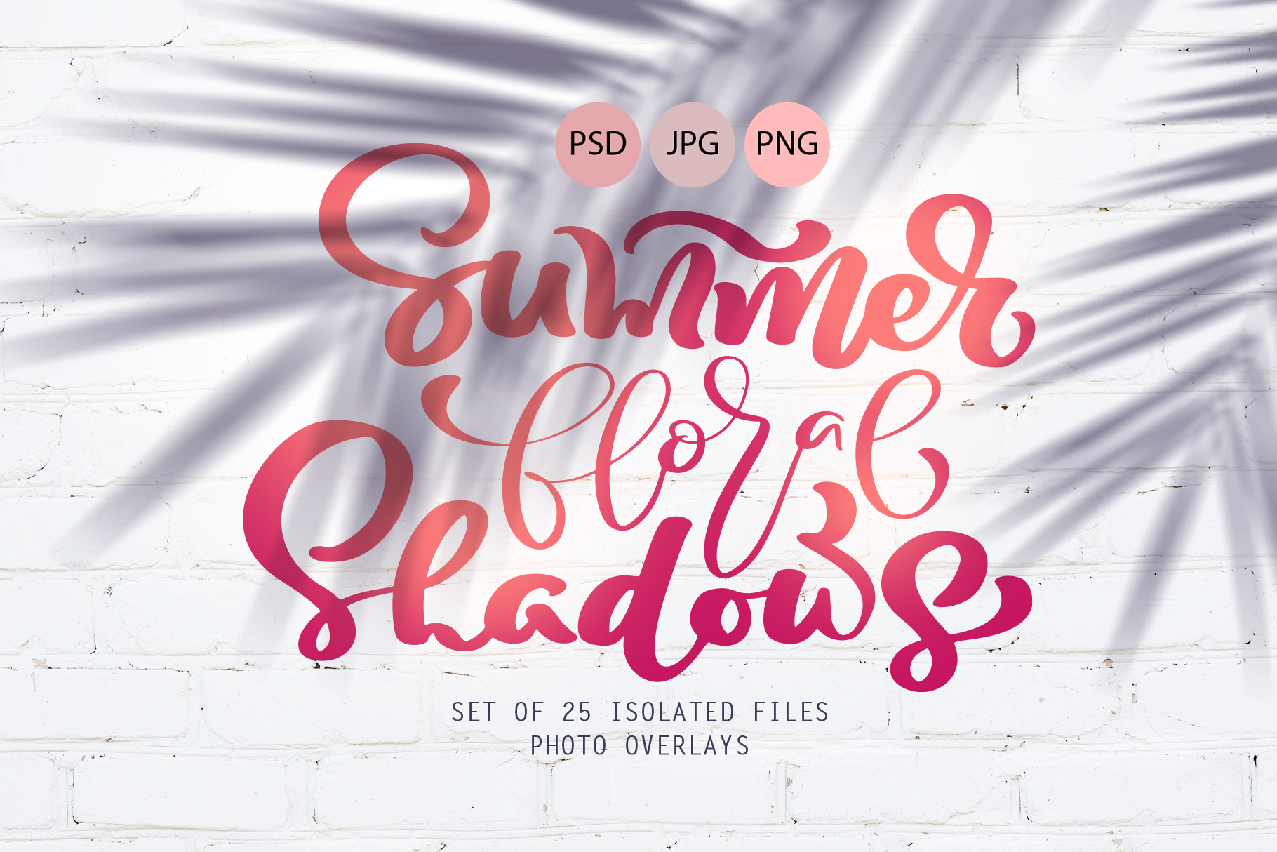 Download Free Summer Floral Shadows Graphic By Happy Letters Creative Fabrica for Cricut Explore, Silhouette and other cutting machines.