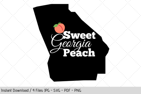 Download Free Sweet Georgia Peach Svg Graphic By Werk It Girl Supply for Cricut Explore, Silhouette and other cutting machines.