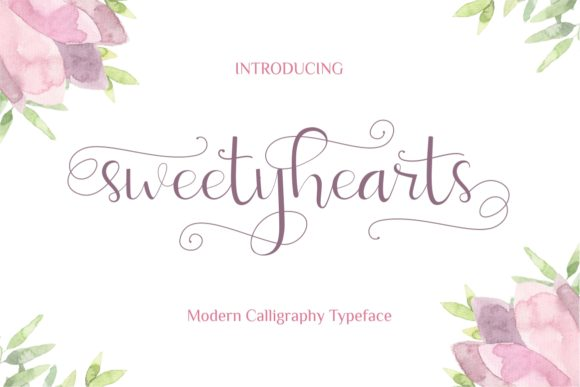 Print on Demand: Sweetyhearts Script & Handwritten Font By putracetol