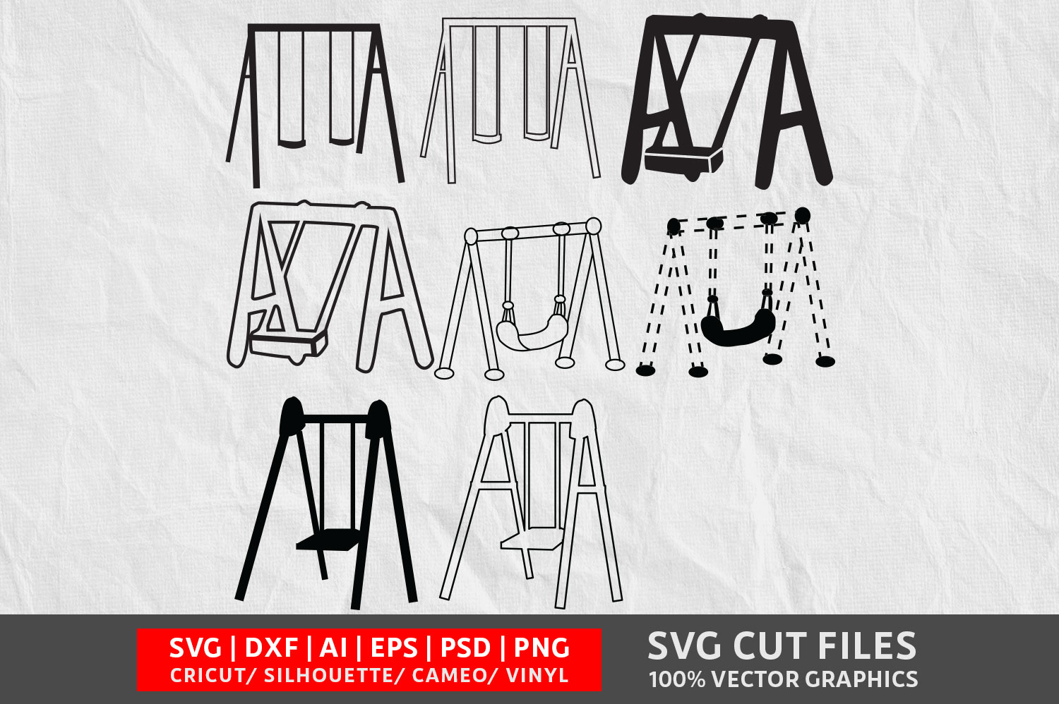 Download Free Swing Graphic By Design Palace Creative Fabrica for Cricut Explore, Silhouette and other cutting machines.