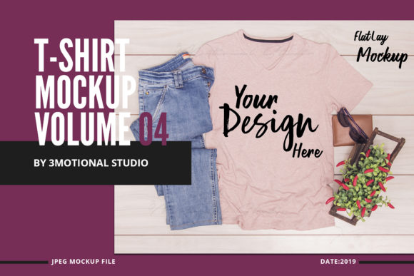 Download Free T Shirt Mockup Graphic By 3motional Creative Fabrica for Cricut Explore, Silhouette and other cutting machines.