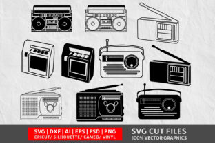 Tape Recorder SVG Graphic By Design Palace