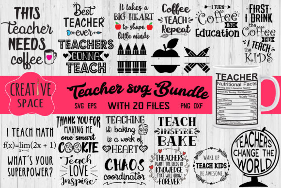 Teacher Bundle Graphic Crafts By creativespace