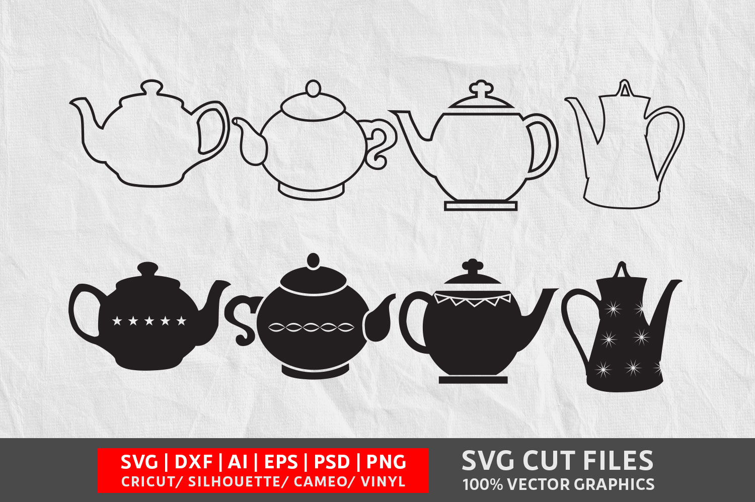 Download Free Teapot Graphic By Design Palace Creative Fabrica for Cricut Explore, Silhouette and other cutting machines.