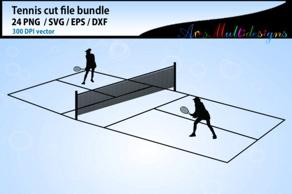 Tennis Svg Silhouette Bundle Graphic By Arcs Multidesigns Image 2